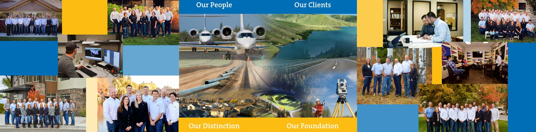Collage of images representing T-O Engineers' Core Values