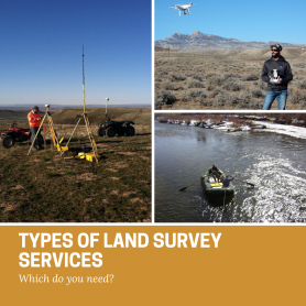 types of land survey services graphic